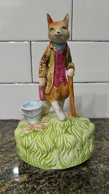 Schmid Beatrix Potter Musical Music Box Mr Tod Red Fox Figurine 1978 Entertainer