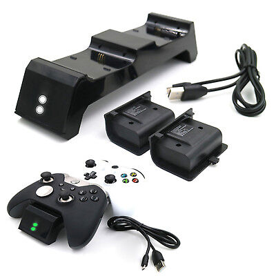 Dual Charging Stand Dock + 2 Battery Pack for Xbox One/One S/Elite Controller