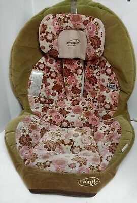 Evenflo Triumph 3801992 Green/Pink Booster Car Seat Fabric Cover Cushion Pad