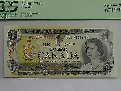 1973 Canada $1 Bank note - PCGS Currency Super Gem New 67PPQ