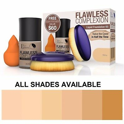 Thin Lizzy Flawless Complexion Liquid Foundation Kit *All Shades Available*