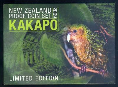 2009 New Zealand Proof Coin Set with Silver $5.00 Kakapo Coin