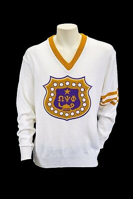 Omega Psi Phi Old School Cardigan Sweater 13500 Picclick