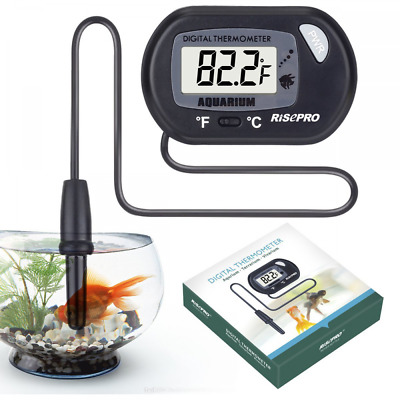 Aquarium Thermometer, RISEPRO Digital Water Thermometer For Fish Tank Aquarium M