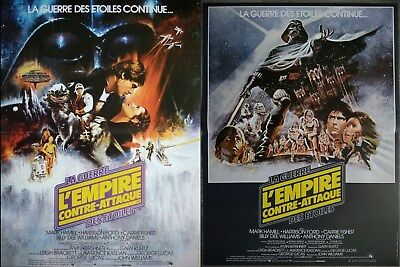 L'EMPIRE CONTRE ATTAQUE LOT 2 Affiches Cinéma 53x40 Movie Posters STAR WARS