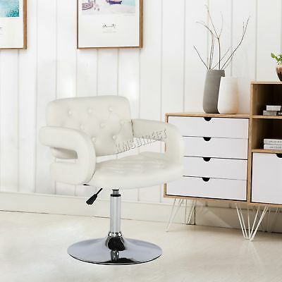 FoxHunter Beauty Salon Chair Barber Hairdressing Hair Cut PU Leather SC02 White