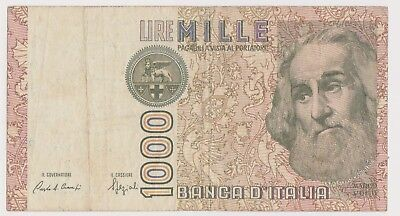 (N10-59) 1992 Italy 1000 lire bank note (DC)