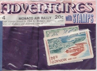 (V6-14) 1964 Monaco old stamps pack 3stamps air rally (O)