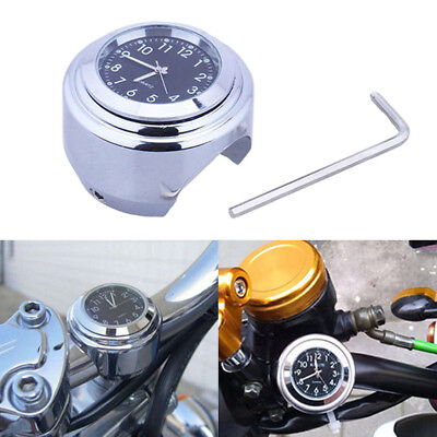 "Waterproof Universal 7/8"" Motorcycle Motorbike Bike Handlebar Clock Glow-Watch"