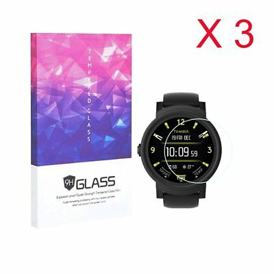 For Ticwatch E Tempered Glass Screen Protector 9H Hardness (3 Packs)