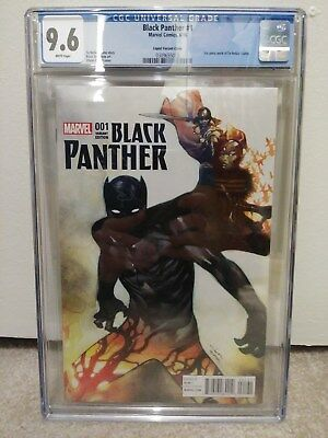 Black Panther # 1 Coipel 1:50 Variant CGC 9.6 White Pages NM+ Marvel 2016
