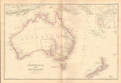 1859  Large Antique Map - Weller - Australia And New Zealand