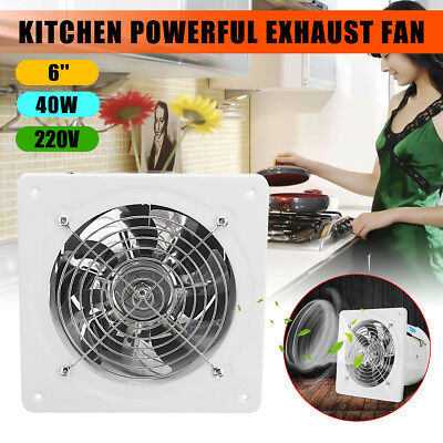 6'' 40W Inline Duct Ventilator Booster Extractor Exhaust Fan Air Blower Kitchen