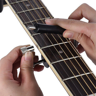 Guitar Rolling Capo Glider Slides Easy Tunning Capo Anti-Rust Carbon Steel