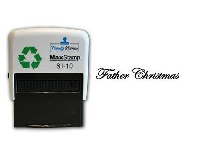 Father Christmas Card / envelope self inking stamp (36mm x 13mm)