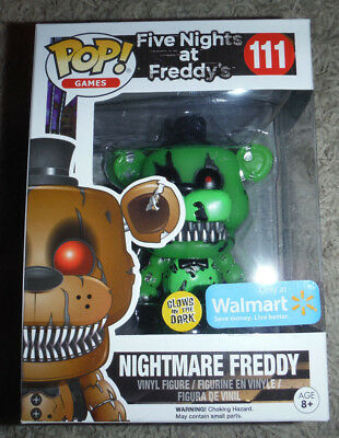 Funko Pop! Nightmare Freddy Five Nights at Freddy's Walmart Exclusive #111 *NEW*