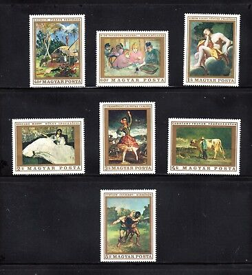 Hungary 1969 Paintings in National Gallery (6th series) SG 2449/55 MUH