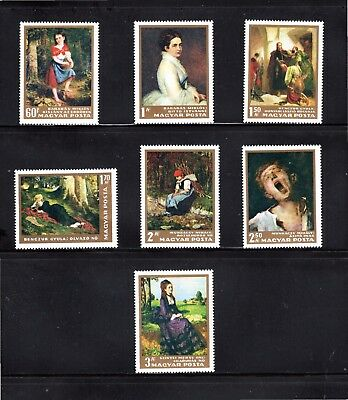 Hungary 1966 Paintings in Hungarian National Gallery (1st series) SG 2239/45 MUH