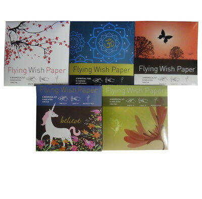 Flying Magical Wish Paper, 5 Designs, Hippy, Om, Fairy, Unicorn, Mother's Day