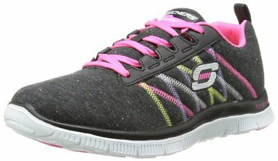 Skechers Womens Flex Appeal Miracle Work Black Pink Limited Sneakers Trainers