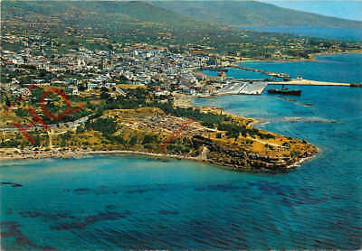 Picture Postcard~ Aegina, City And Temple Of Apollo By Air