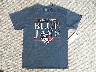 MEDIUM BLUE JAYS DK NAVY OFFICIAL MLB Baseball T Shirt NEW Strong Toronto Canada