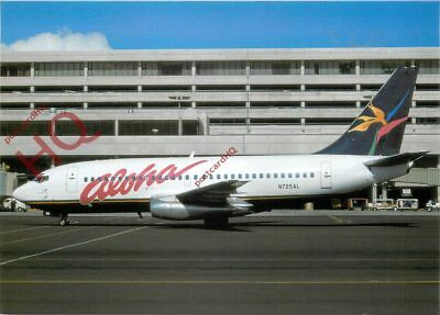 Picture Postcard, ALOHA AIRLINES BOEING 737-297 N725AL [TOP]