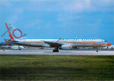 Picture Postcard: AMERICAN AIRLINES RETRO LIVERY BOEING 757-223 N679AN [W.C]