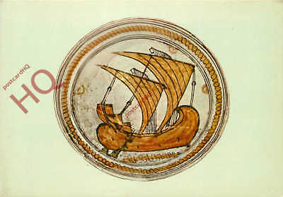 Picture Postcard--Ancient Corinth Museum, Byzantine Plate Of 1204-1300 A.D.