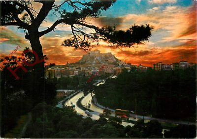 Picture Postcard- Athens, Sunset At Acropolis