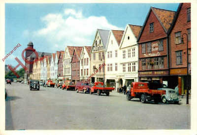 Picture Postcard; Bergen, Old Warehouses From Hanseatic Days