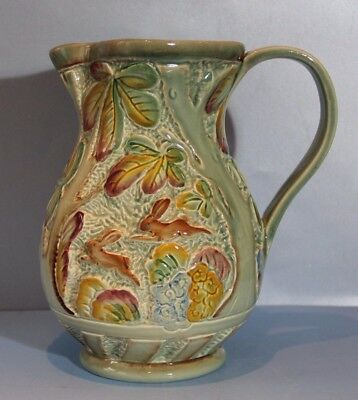 Rare BESWICK LARGE JUG In Green Glaze  pattern no 676  10. inches high