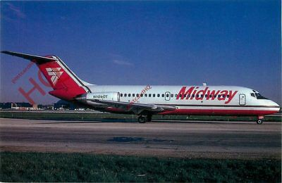 Picture Postcard: MIDWAY AIRLINES DOUGLAS DC-9-15 N1060T @ MDW