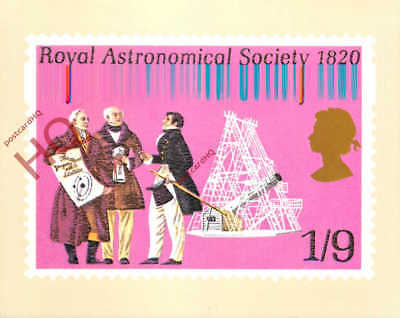 Postcard: National Postal Museum, Royal Astronomical Society 1820, From 1970