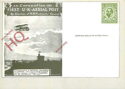 Picture Postcard: National Postal Museum, Coronation Aerial Post 1911, Stamped