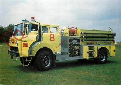 Picture Postcard:;P-8D FIRE FIGHTING PUMPER TRUCK, FIRE ENGINE