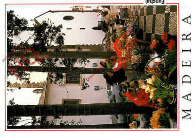 Picture Postcard~ Madeira, Funchal, Small Flower Market By The Cathedral