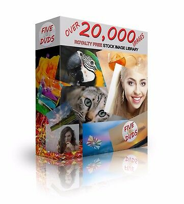 Massive 5 DVD Image Library! Collection of over 20,000 Royalty FREE Images!