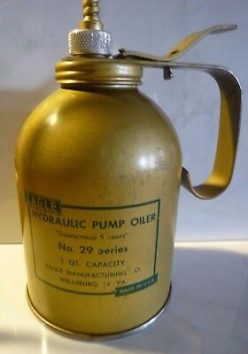 Vintage Eagle Hydraulic Pump Oiler No. 29 Series Brass 1 QT. - Made in USA