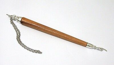 "Judaica silver Plated 8"" Olive Wood Tora Pointer Yad Bible"