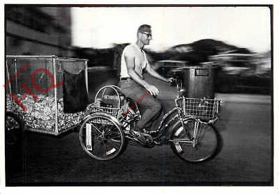 Picture Postcard-:Daytona Beach, 1984, Man Hauling Cans With A Bicycle