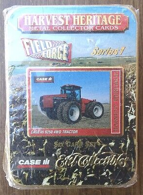Ertl Harvest Heritage CASE IH Field Force Trading Cards in Tin Sealed 1996