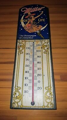 Vintage Reproduction Miller High Life Beer Indoor Thermometer