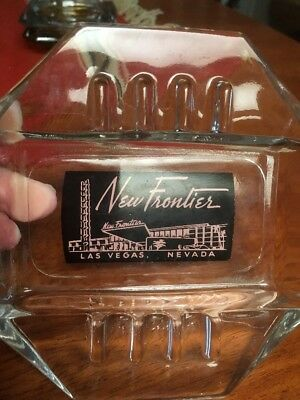 Early Mid Century Pink Black New Frontier Casino Las Vegas Ash Tray