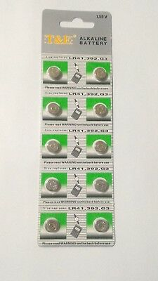 10 Pcs LR736 AG3 LR41 384 392A 192 1.5V Alkaline Battery Watch T&E