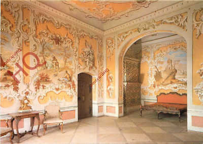 Picture Postcard; Pernstejn, Bedroom With A Rococco Style Decoration
