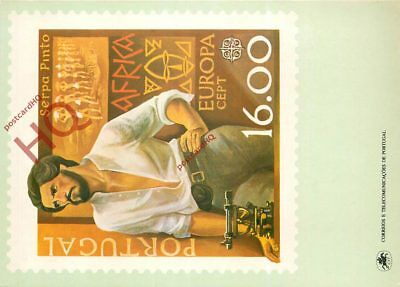 Picture Postcard- Portugal, Stamp, Europa 1980-Cept, Serpa Pinto