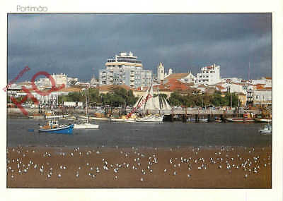 Picture Postcard:;Portimao, Partial View Of The Fishing Harbour And Town