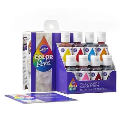 Wilton # 6200 Color Right Performance System Icing Dye Food Liquid Colouring Kit