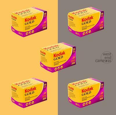 Kodak Gold 200 35MM 36EXP- 5 PACK- FREE POST